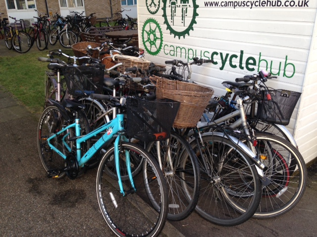 Bike repairs at Campus Cycle Hub by Cambridge Electric Transport