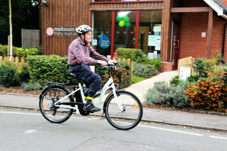 Mike Stapleton on Peter's Pedals electric bike