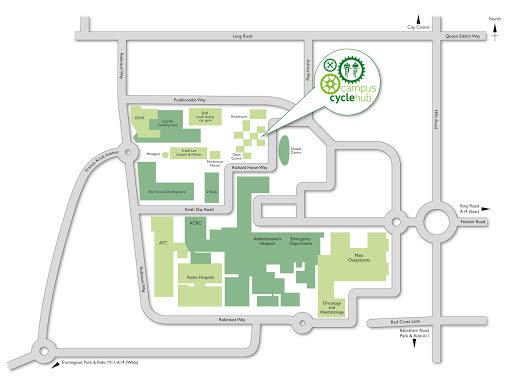Campus Cycle Hub at Cambridge University Hospitals Map