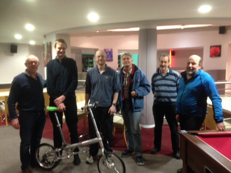 Hinton Bikes demonstrated their prototype and briefed the group on their business strategy at a recent meeting
