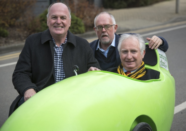 Local Cambridge MP test drives a CityPod