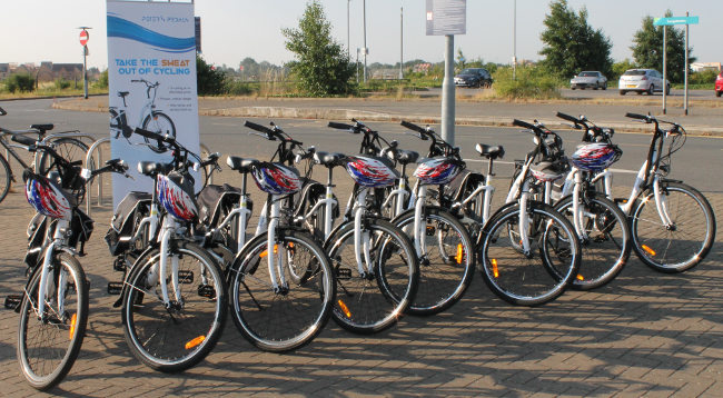 Electric Bikes from Cambridge Electric Transport for hire at Longstanton Park & Ride