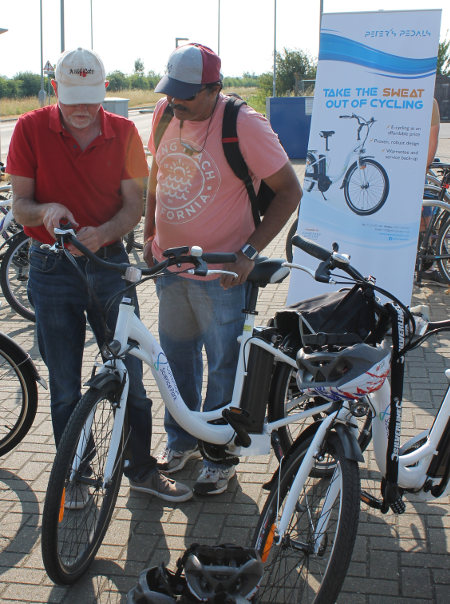 Electric Bikes for hire and support at Longstanton Park & Ride