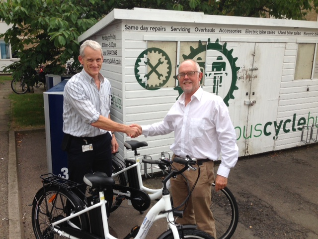 Addenbrooke's E-bikes for Business launch