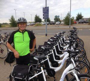 Electric bikes park & ride