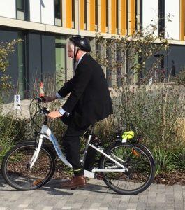 MP riding electric bike