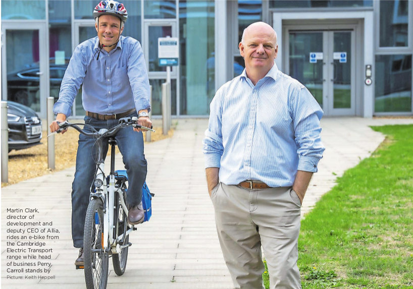 On city's technology parks, electric bike hire is coming of age.