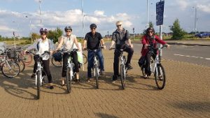 Ensors' staff using electric bikes from Cambridge Electric Transport